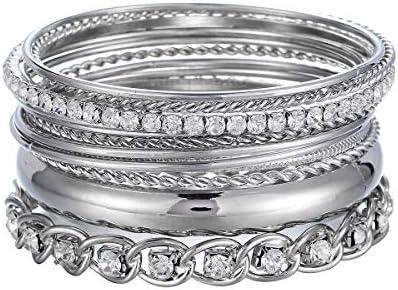 ENSOUL Twisted Multiple Bracelets Rhinestones product image
