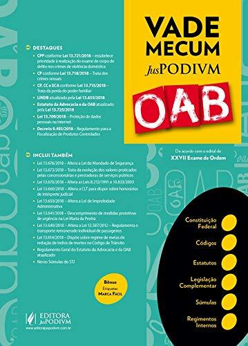 Vade Mecum Juspodivm OAB: de Acordo com o Edital do XXVII Exame de Ordem