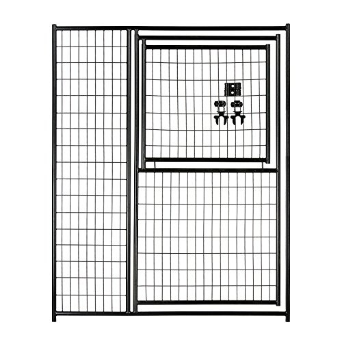 Lucky Dog 6'H x 5'W Black Welded Wire Modular Gate in Gate