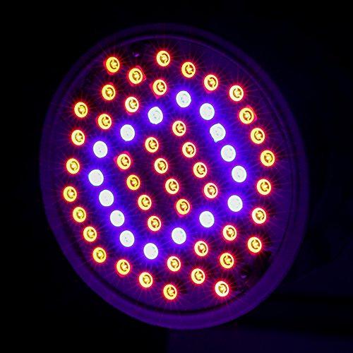 WinnerEco LED Grow Light E27 AC85-265V Full Spectrum Plant Lamp for Plants Vegetation (60 LEDS)