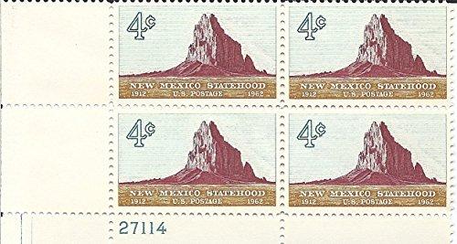 1962 New Mexico Statehood US Postage Stamp Plate Block 4 Cent MNH Scott -