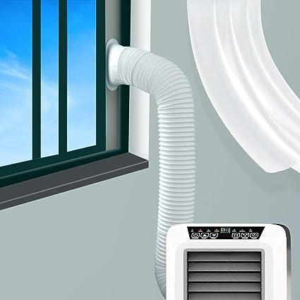 JOYOOO 2m PVC Tubo aire acondicionado Tubo de salida de aire para sistemas de aire acondicionado /counterclockwise installation direction (Ø15CM): Amazon.es: Hogar