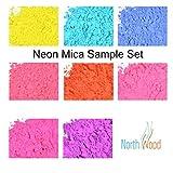 Bath Bomb Powder Colors Neon Soap & Cosmetic Color Sample Set - 8 Powder Colors - Bright & Vibrant Colors for Soap Making - Powder Dye Pigment