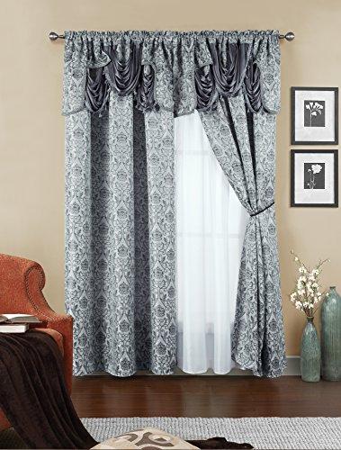 Sapphire Home Curtain Drape Panels 84