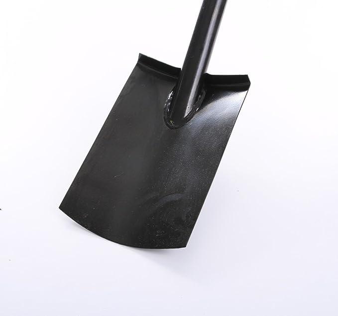 Spaten Gartenspaten Pionierspaten Schaufel aus Stahl schwarz 78cm