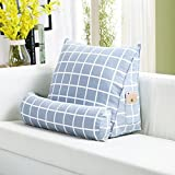 HOMEE Triangular Cushions Sofa Bed Floating Window Pillow Back Waist Pad Bed Soft Package Can Be Removed from the Office of the Pillow Money ,45225, Singing Birds and Fragrant Flowers,Gray cells,40