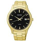 Seiko Mens SUR088 Quartz Stainless-Steel Analog Black Dial Watch