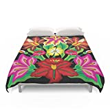 Society6 Mexican Exotic Flowers Duvet Covers Full: 79'' x 79''