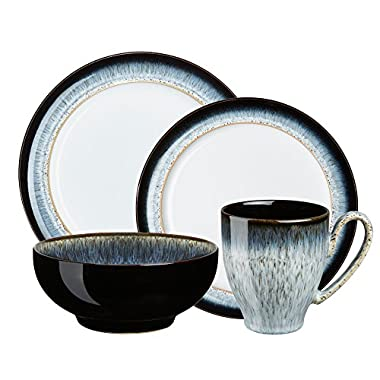 Denby USA Halo 4 Piece Place Setting Dinnerware Set, Speckle