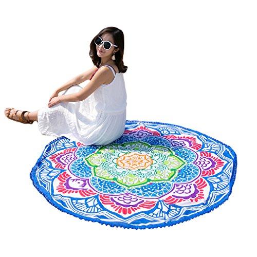 TraveT Mandala Blanket Tassel Prints Round