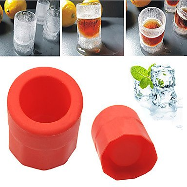 FMY 1 Cup Shape Rubber Shooters Ice Cube Shot Glass Freeze Mold Maker Tray Party