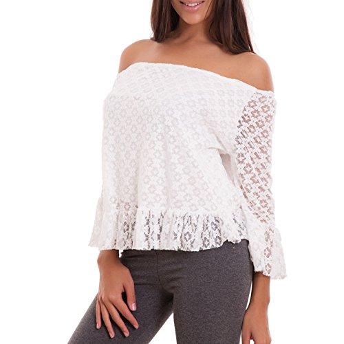Toocool - Camiseta sin mangas - para mujer blanco
