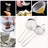 Tacoli- Stainless Steel Kitchen Pastry Tools Stainless Steel Baking Tools Mesh Wire Flour Handheld Screen Mesh Strainer Flour Sieve