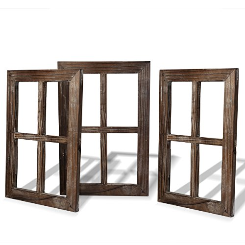 Cade Rustic Wall Decor-Home Decor Window Barnwood Frames -Room Decor for Home or Outdoor, Not For Pictures (3, 11X15.8 inch) (Vintage Wood Sign)