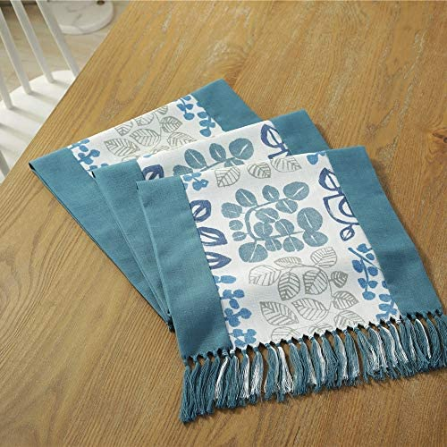テーブルマット 表結婚式のダイニングのためのスタイリッシュな柄プレースマット織テーブルランナーホリデー 特別なアクティビティや毎日の使用に適しています (Color : Gray, Size : 38x220cm)