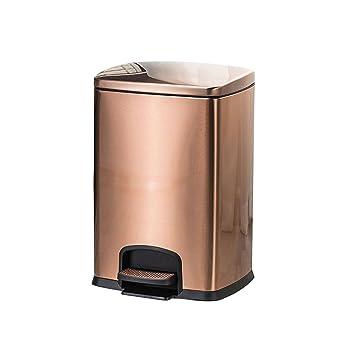 Amazon.com: Cubo de basura de acero inoxidable cepillado con ...