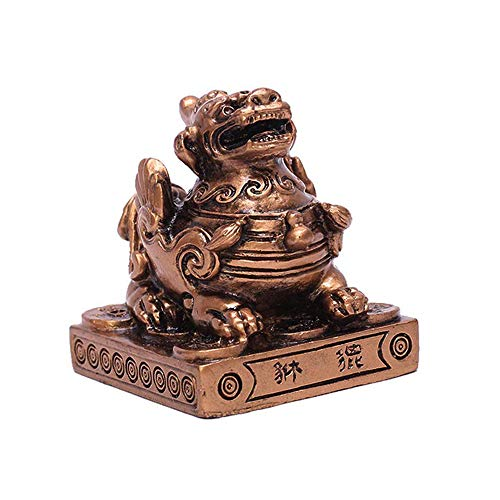 Brass Statu Feng Shui Resin Pi Yao/Pi Xiu Wealth Porsperity Statue Attract Wealth and Good Luck BS121