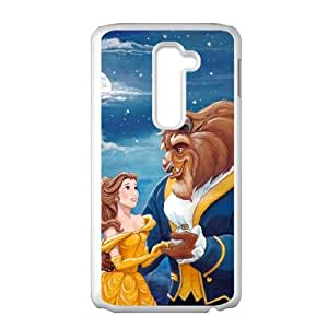 LG G2 Cell Phone Case White Disneys Beauty and the Beast P6686527