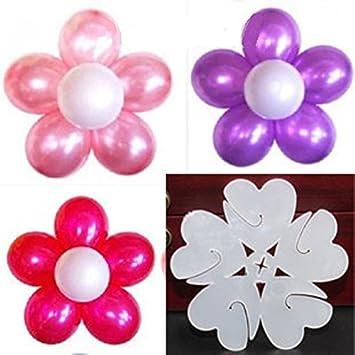 Swirlcolor 25 Piezas De Globo De Plastico Clips Hacer Diseno De La - Como-hacer-flores-de-globos
