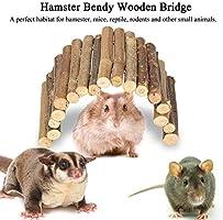 Biunixin Hamster Bendy Puente de Madera, Escalera Casa para Ratones Reptiles Roedores Juguete masticable para Animales pequeños(M): Amazon.es: Hogar