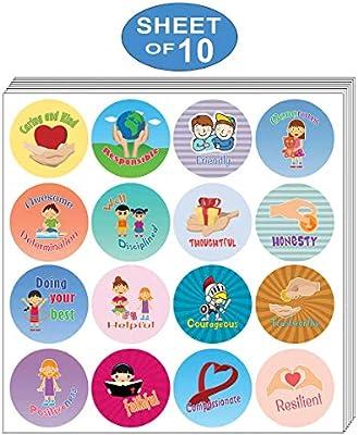 10 Sheets Smile Faces School Teacher Reward Merit Stickers For Children Kid CA