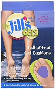 Dr. Jills Gel Ball of Foot Cushions (Self-Sticking and Re-Usable)