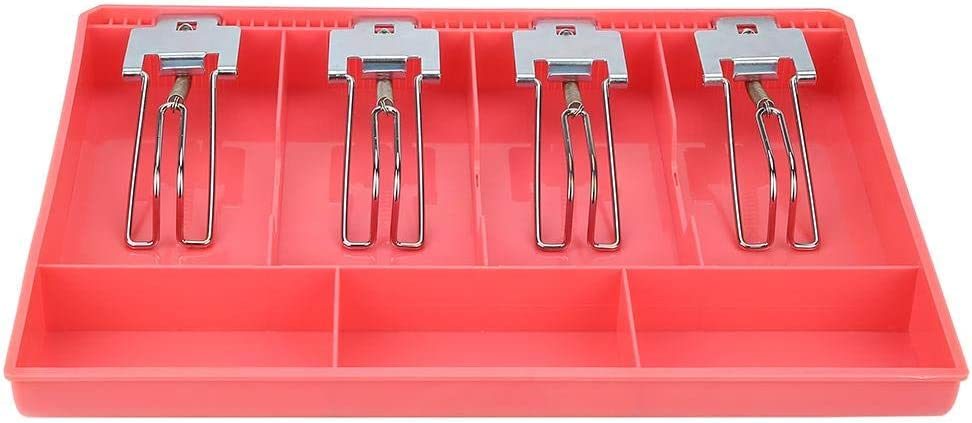 pink School Cash Drawer Store Hotel Hospital Practical Durable Register Insert Tray Replacement Cashier Four Box Metal Clip Cash Drawer for Supermarket