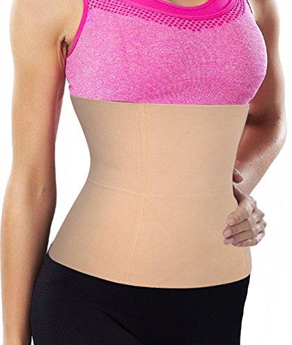 High elastic Weight Loss Yoga Waist Trainer Cincher Tummy Slimmer Shapewear Girdle (XL, Black)