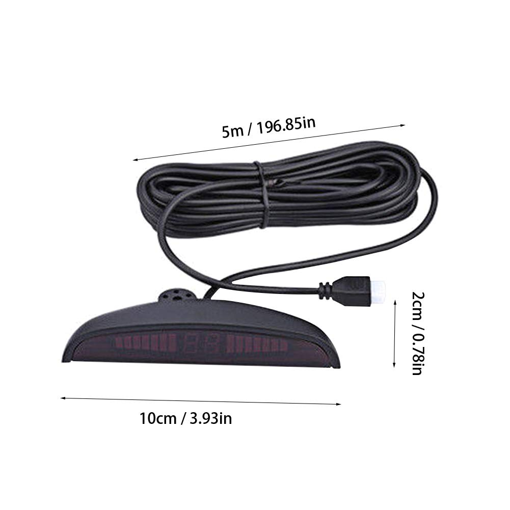 LED Display Car 4 Parking Sensors Reverse Backup Radar Alarm System Kit