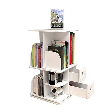 Amazon.com: WY-JYSJ - Estantería de escritorio giratoria ...