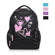 Sweetheart Pattern Kids Backpack Black