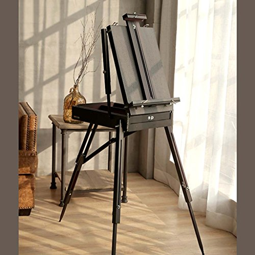 Professional Wooden Art Display Canvas Painting Easel - 86.5Cm Tall Adjustable Wood Easel For Adults - Portable Hand Easy To Assemble - Fits Small And Large Canvases Easels Exhibition,H ()