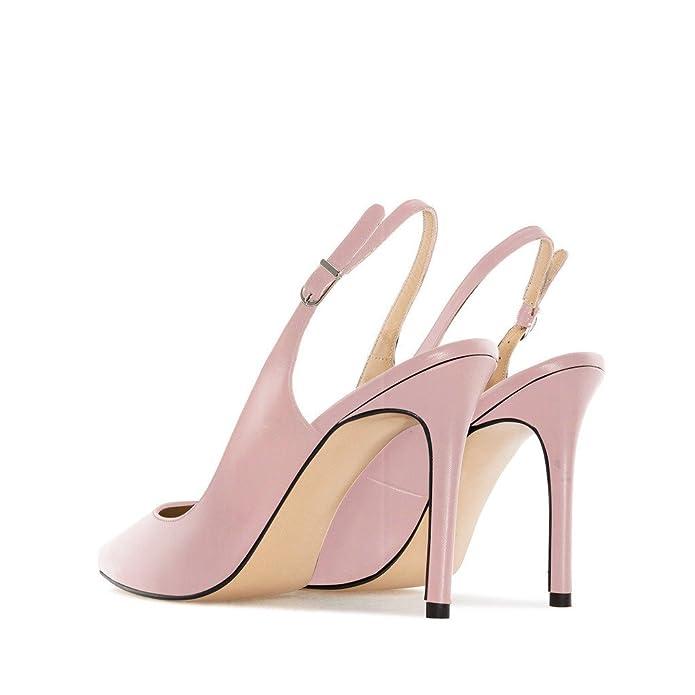 06f12c25c93162 EDEFS Femme Escarpins Bouts Pointus Classiques Chaussures à Brides à Boucle  à l'arrière: Amazon.fr: Chaussures et Sacs