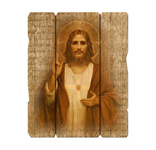 "Sacred Heart of Jesus Vintage 11 1/4"" x 14"" Plaque for sale  Delivered anywhere in USA"