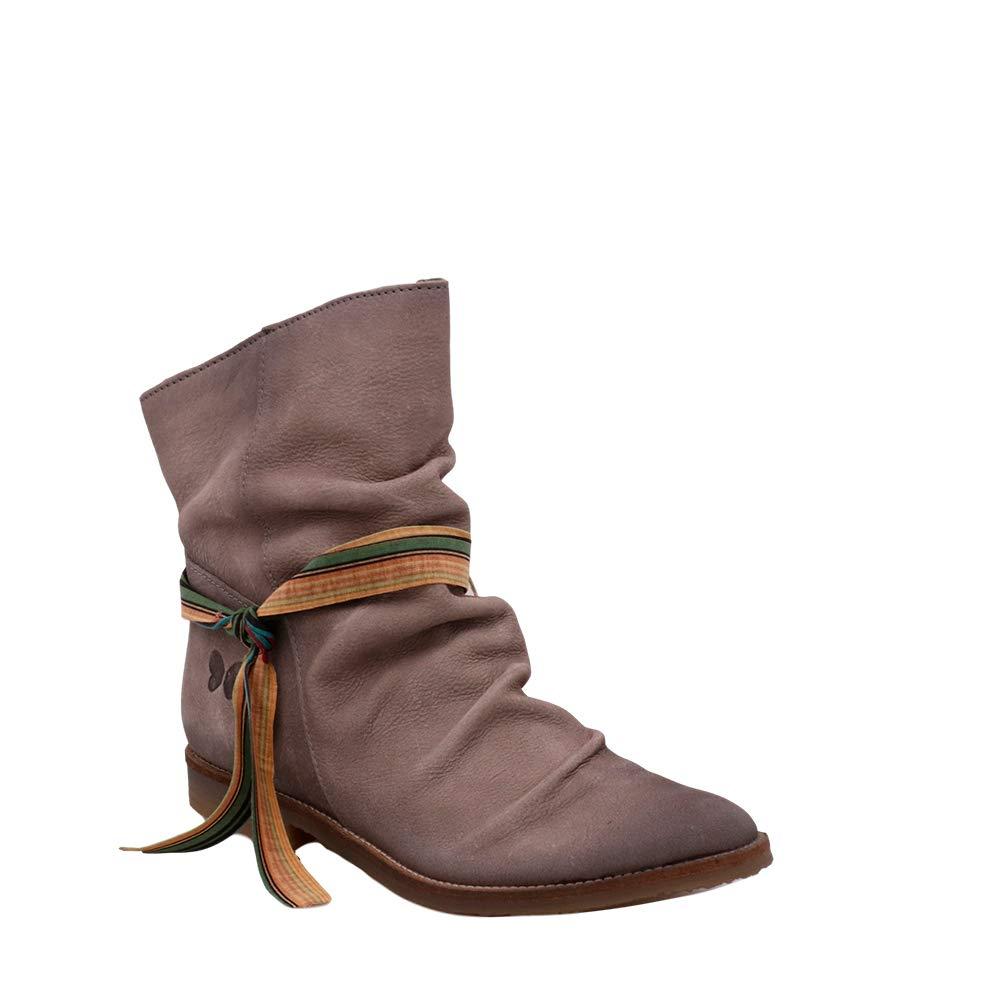 Felmini - Damen Schuhe - Verlieben Nolita 8536 - Lässige Stiefeletten - Echtes Leder - Grau