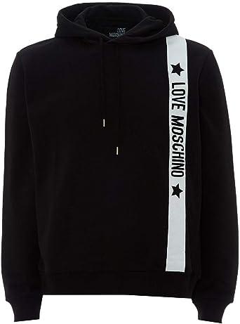 Love Moschino Mens Star & Logo Tape Hoodie: Amazon.co.uk