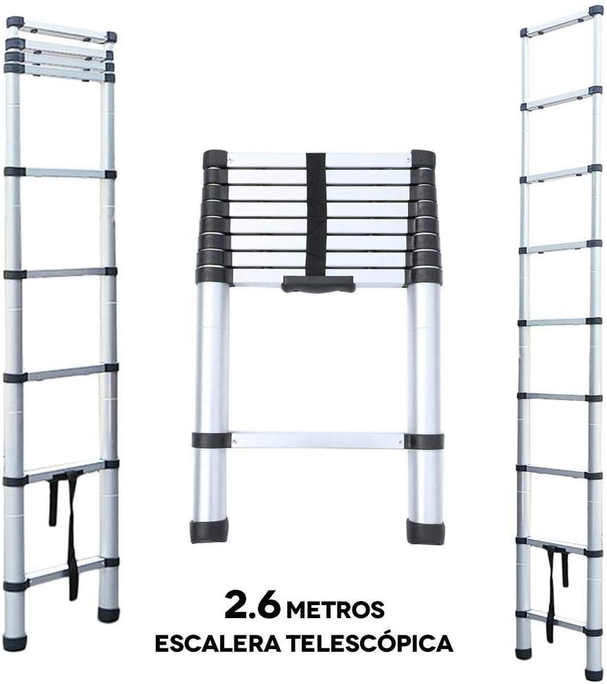 2.6 Metros Escalera Telescópica, Escalera Plegable - Carga máxima ...