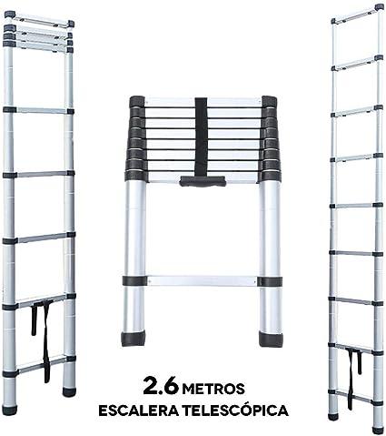 2.6 Metros Escalera Telescópica, Escalera Plegable: Amazon.es: Electrónica