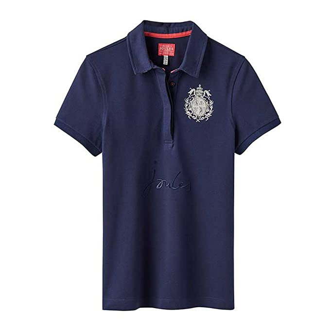 1373bd9f8c4c39 Joules Ladies Amity Slim Fit Polo Shirt - French Navy - 10: Amazon ...