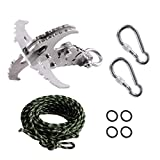 GearOZ Grappling Hook with Rope, Gravity Hook