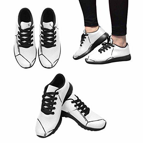 InterestPrint Womens Casual Soft Sports Road Running Walking Shoes Caffeine Molecule Formula, The Caffeine Content In Coffee Multi 1