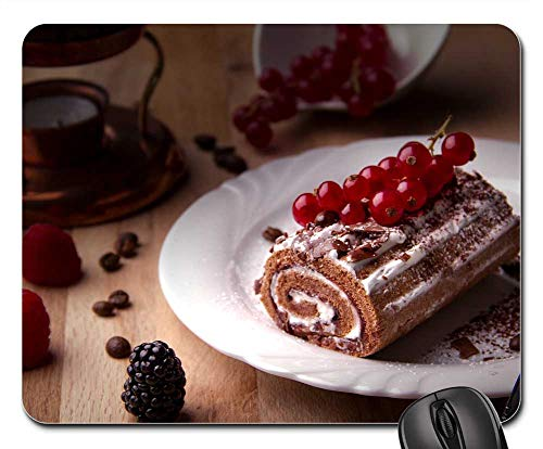 - Mouse Pad - Cake Black Forest Cherry Roll Cream Calories