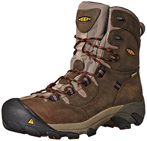 1008313 KEEN Men's Detroit 8IN Safety Boots - Black Olive...