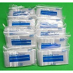 "1000 Ziplock Bags 2x2 Small Clear Poly Baggies 2mil 2""x2"" 1000 Pcs Reloc Zippit (15.9E)"