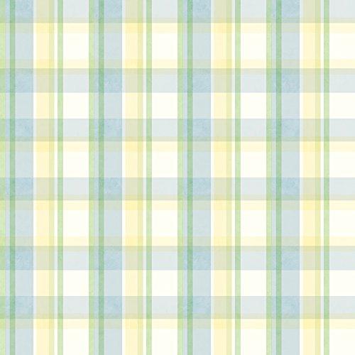 Chesapeake CKB21532 Yellow Sunday Plaid Wallpaper