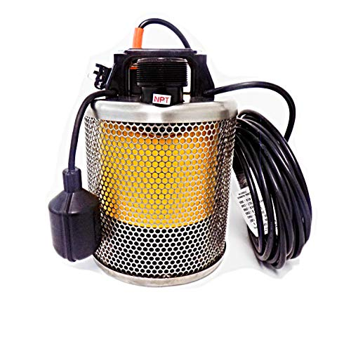 Site Drainer, Pit Boss 102T, Submersible Dewatering and Sump Pump, Never Clog, 1 Horsepower, 115 Volt, 2 Inch Discharge, 83 Gallons Per Minute, Tethered Float for Automatic Operation