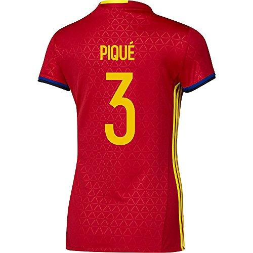 ライオネルグリーンストリートカテナ犠牲Adidas PIQUE #3 Spain Women's Home Jersey UEFA FURO 2016 (Authentic name & number) /サッカーユニフォーム スペイン ホーム用 ピケ レディース向け