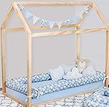 Kit Rolinho Mini Cama Montessoriano Wish Azul Bebê 8 Peças