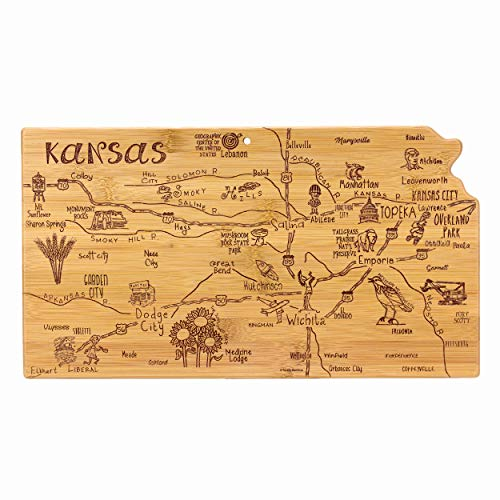 Totally Bamboo Kansas State Destination Bamboo Serving and Cutting Board