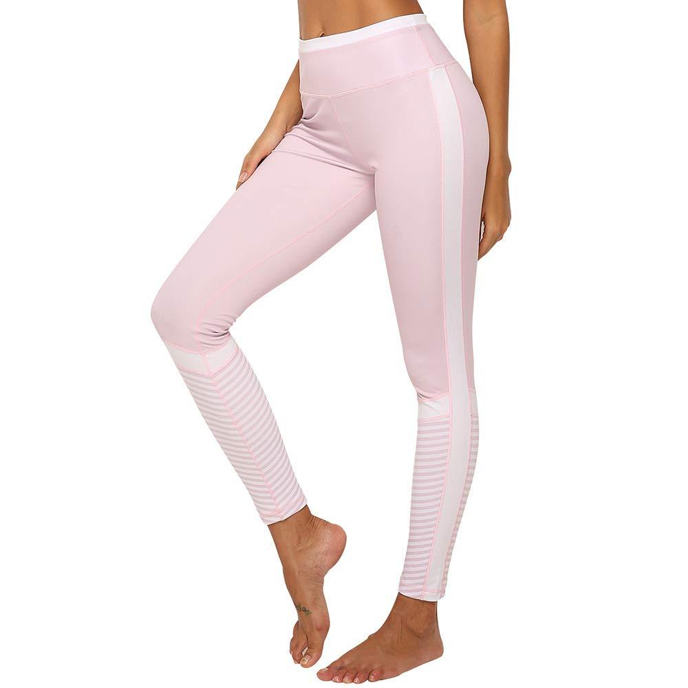 YUYOGAP Sport-Yoga-Eignungs-Rosa-Streifen-Mosaik-Frau